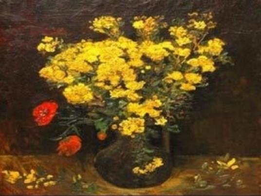 flowers in vase van gogh. VAN GOGH#39;S POPPY FLOWERS,