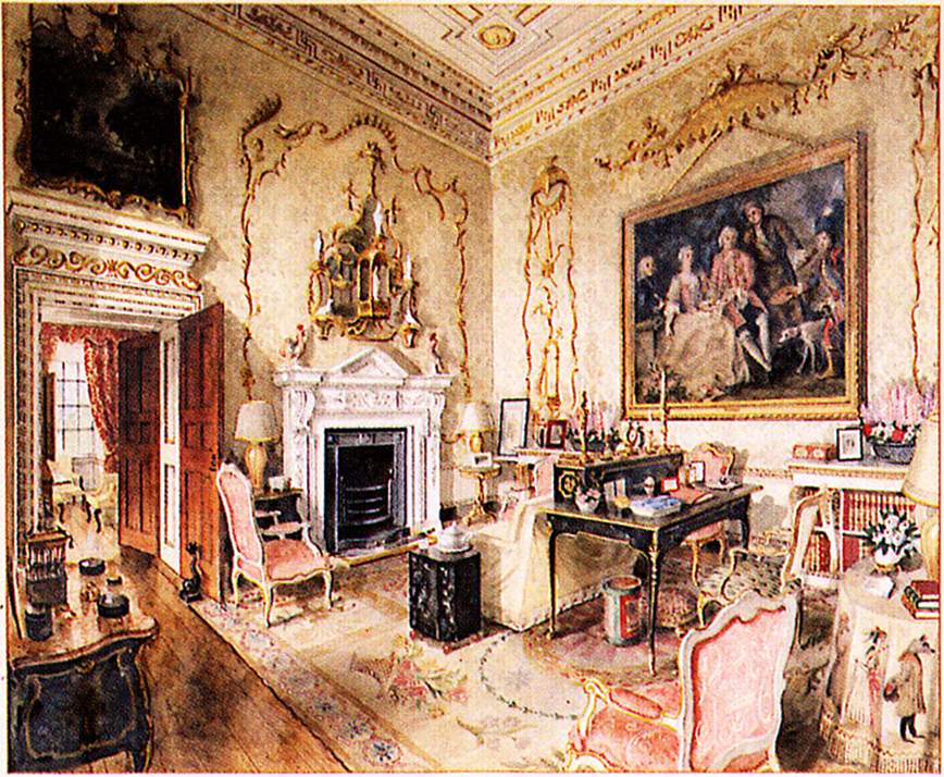 interiors illustrations house interiors english interiors drawing rooms country house interior. Black Bedroom Furniture Sets. Home Design Ideas