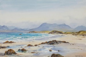 Robert Egginton, Renvyle Connemara watercolour (500-800).