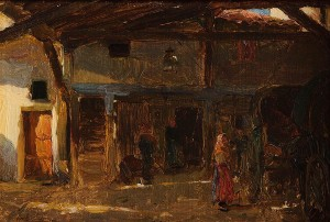 Walter Frederick Osborne RHA (1859-1903) An Interior of a Coach House (20,000-30,000).