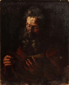 This work, entitled St. Joseph, is attributed to the Spanish painter Jusepe De Ribera.  It is estimated at 2,000-3,000.