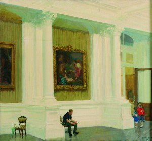 Thomas Ryan PPRHA (b.1929) In The National Gallery (2,500-3,500).