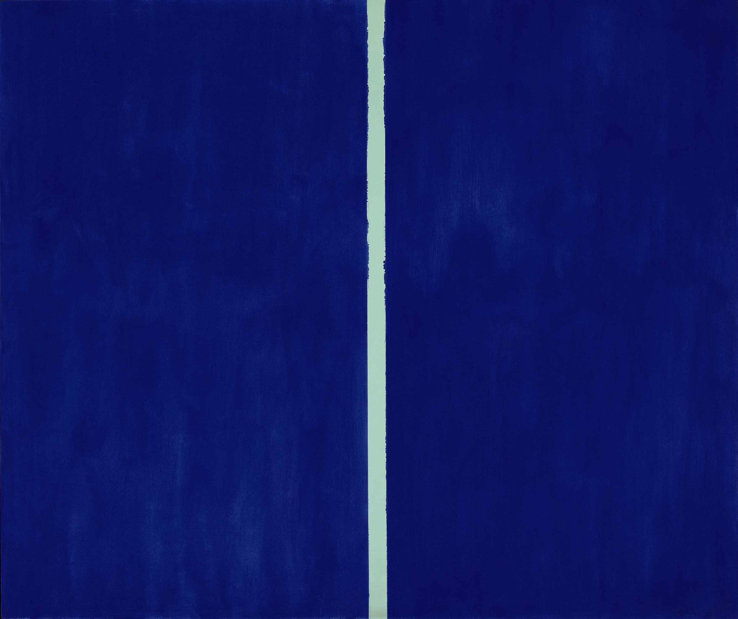Blue Line Art Painting : Barnett newman s glimpses of the sublime are a bargain