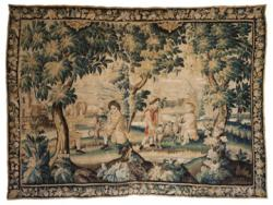 Seventeenth-century Flemish tapestry, circa 1670, depicting children in a landscape  (6,000 - 9,000).