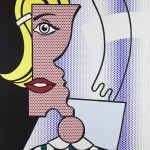 Roy Lichtenstein - Puzzle Portrait, 1978 at Masterpiece, London. (Click on image to enlarge).
