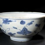A CHINESE BLUE AND WHITE PORCELAIN BOWL, MING DYNASTY (300-400).