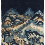 A Chinese hand knotted pictorial wool run from Paotou c1890-1900 is estimated at 400-600.
