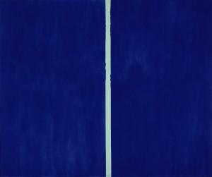 Barnett Newman's Onement VI sold for $43,845,000.  (Click on image to enlarge).