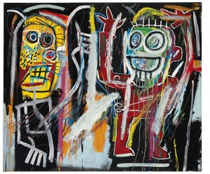 Jean-Michel Basquiat (1960-1988) - Dustheads sold for $48,843,750.  Courtesy Christie's Images Ltd., 2013.