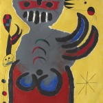 La tige de la fleur rouge pousse vers la lune (The Stem of the Red Flower Grows Toward the Moon) by Joan Miró (1893-1983) is estimated at £5.2 to 7 million. CHRISTIE'S IMAGES LTD. 2013 (CLICK TO ENLARGE).