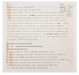 The lyrics for the unpublished 1963 song by Bob Dylan. 