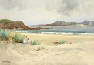 The Strand, Marble Hill, Co. Donegal by Frank McKelvey RHA RUA (1895-1974) - 2,500-3,500.