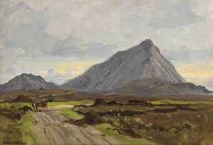 Errigal from Cashel na-Gor, Co. Donegal by FrankMcKelveyRHA RUA (1895-1974) - 4,000-6,000.