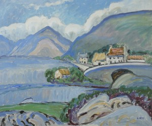 Upper Lough Mask, Co. Mayo by Letitia Marion Hamilton RHA (1878-1964) - 6,000-8,000.