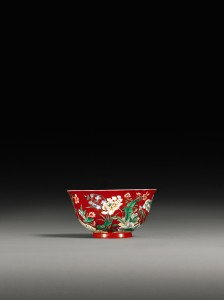 Coral-Ground Famille-Verte Bowl Kangx Yuzh Mark and Period (150,000-200,000.