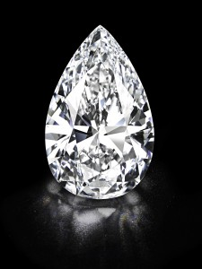 This pear-shaped, D colour, Type IIA, flawless, diamond of 101.73 sold for $26.7 million and was named the Winston Legacy.