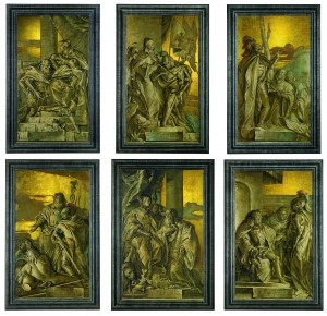 Giandomenico Tiepolo, Six frescoes.  (Click to enlarge).