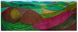 Double East Yorkshire by David Hockney sold for £3,442,500. (Click on image to enlarge).