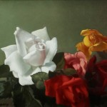 PATRICK HENNESSY R.H.A. (1915-1980) Five Roses, still life (4,000-6,000)