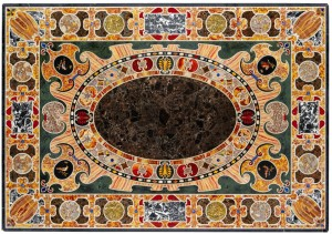 Late Renaissance table top, antique Roman marble inlay.