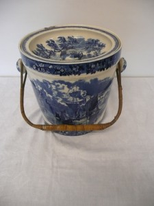 An antique Wedgwood blue and white bucket and it'd (100-200)