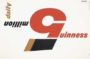 Abram Games (1914–1996) GUINNESS 5 MILLION DAILY silkscreen, 1960.  Courtesy Christie's Images Ltd., 2013.