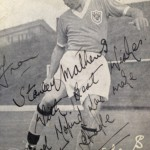 The card signed by Stanley Matthews.