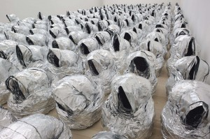 Kader Attia, Ghost, number 3 from an edition of three executed in 2007. Image courtesy of Saatchi Gallery, London