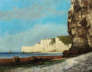 Gustave Courbet Étretat: les falaises Oil on canvas Painted in 1870 Estimate $2/3 million