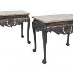 The mid 18th century Irish side tables at Adams, Slane Castle (150,000-200,000)