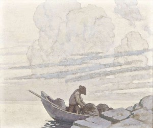 Paul Henry RHA RUA (1876-1958) The Lobster Fisher at Dusk sold for 160,000 at hammer.