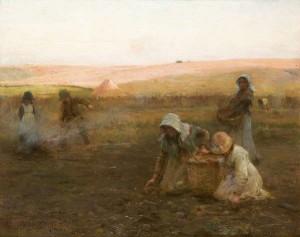 Walter Frederick Osborne RHA ROI (1859-1903) Potato Gathering (60,000-80,000)
