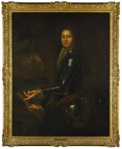 Portrait of a gentleman probably William Steward, 1st Viscount Mountjoy (1653-1692) attributed to Garret Morphey.