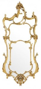 George III carved giltwood pier glass (2,500-3,500)