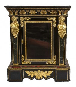 One of a pair of boulle and ormolu side cabinets sold for 21,000.