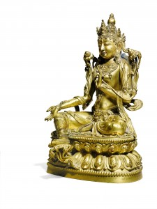 A Rare Gilt-Bronze Figure of Shyama Tara , Ming Dynasty, Early 15th Century, (£100,000-150,000)