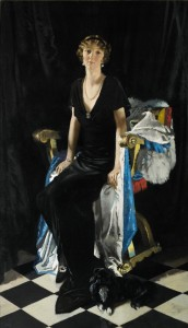 Sir William Orpen, Portrait of Lady Idina Wallace (click on image to enlarge).