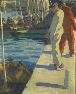 Jour de Peche à Concarneau by William Leech is estimated at £40,000-60,000.