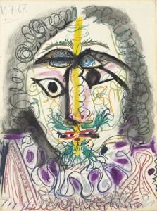 Pablo Picasso (1881-1973)  Mousquetaire, buste  ($600,000-800,000). Courtesy Christie's Images Ltd., 2013