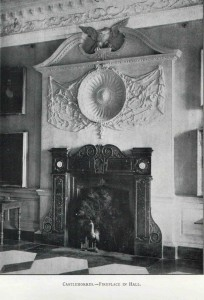 The Castlemorres fireplace in situ.