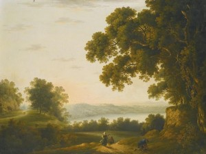 Solomon Delane (1727-1812) - View of Lake Nemi, Italy.