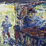 Jack Butler Yeats RHA (1871-1957) The Day's First Customer (1952) (80,000-120,000) sold for 115,000.