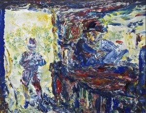 Jack Butler Yeats RHA (1871-1957) The Day's First Customer (1952) (80,000-120,000)