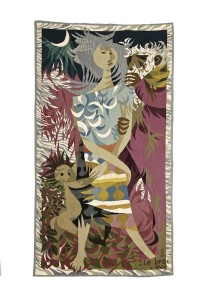 Louis Le Brocquy HRHA (1916-2012) Travellers (1948) Aubusson Tapestry (80,000-120,000)