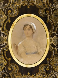 Jane Austen Portait with frame.