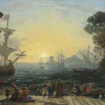Claude Lorrain (1600-1682) - A Mediterranean port at sunrise with the Embarkation of Saint Paula for Jerusalem.  Christie's Images Ltd., 2013