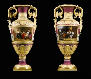 A pair of vases Imperial Porcelain Manufactory, period of Nicholas I (£2,000,000-2,500,000).