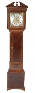 Irish mahogany long case clock by William Maddock, Waterford.