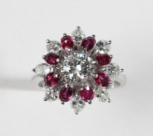 A diamond and ruby cluster ring (2,000-2,600).