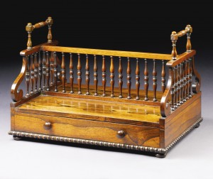 An Irish rosewood book stand attributed to Williams and Gibton c1820 (£3,000-5,000).